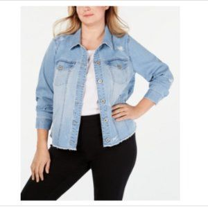 3/$30 Style & CO Destructed Jean Jacket Granada